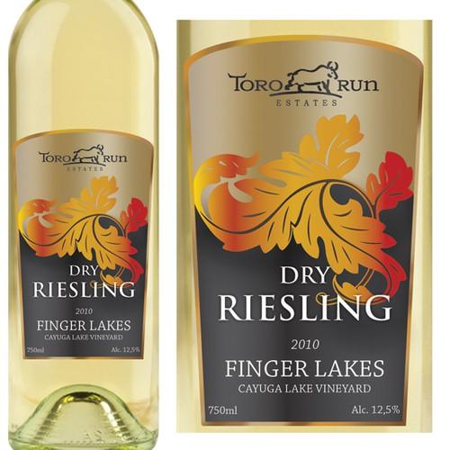Toro Run Winery  needs a new product label