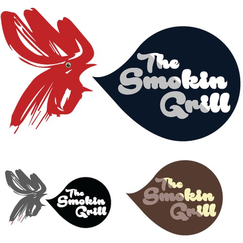 The Smokin Grill Logo Option 1