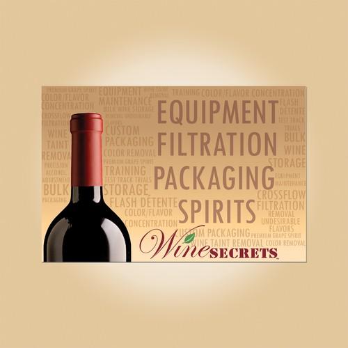 WineSecrets invitation card