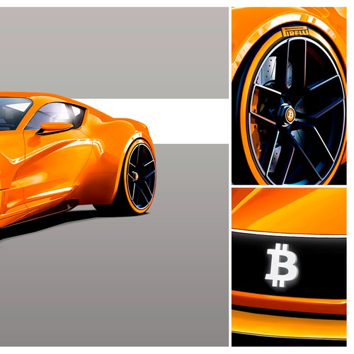 Cryptocurrency Concept Car