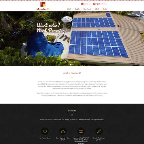 Single Page Wordpress Website for Hawaiian Themed Program
