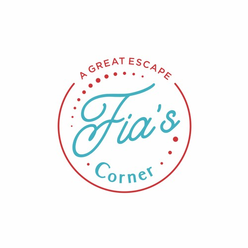 Simple retro emblem like logo for Fia's Corner coffee shop