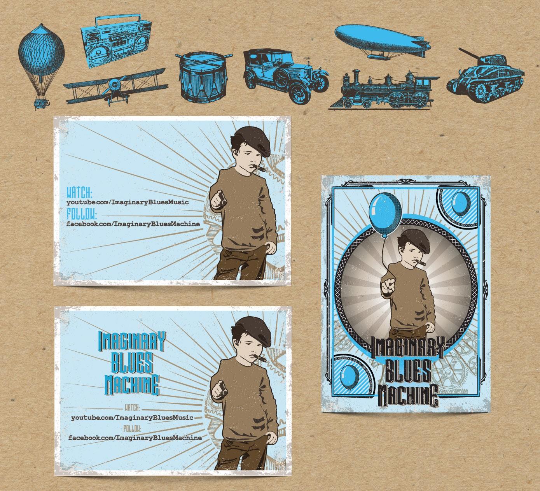 art or illustration for Imaginary Blues Machine