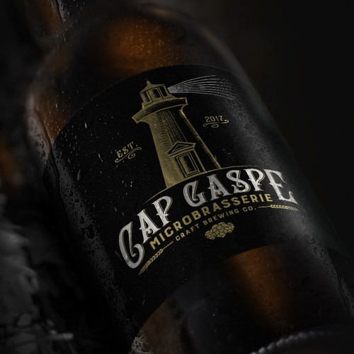 Logo design for Cap Gaspe - Craft Brewing Co.