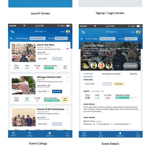 Event management App UI