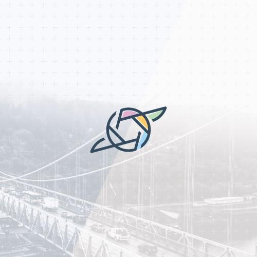 Minimalistic hummingbird logo