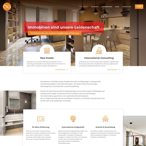 Real estate developer website design