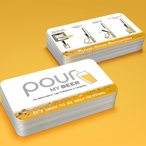RFID card for a beer tap company