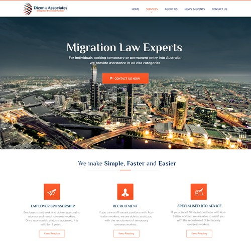 Attorney & Law web page