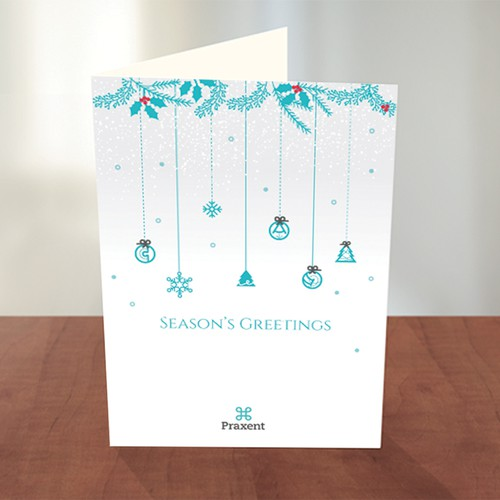 Season's greetings in accordance to Praxent's corporate design.