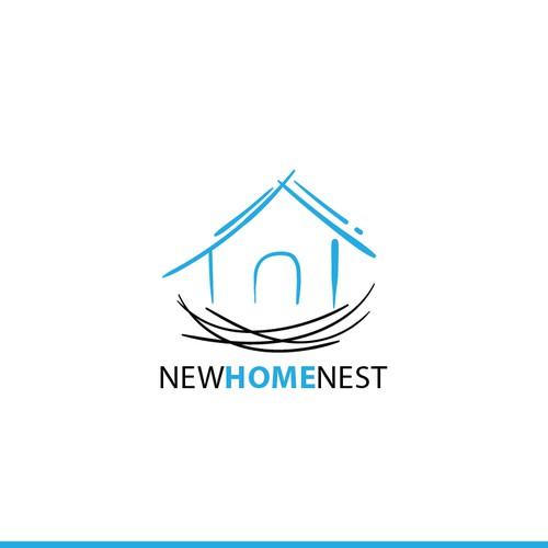 New Home Nest logo concept