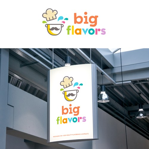 Fun + bold logo for a flavorings & extracts company