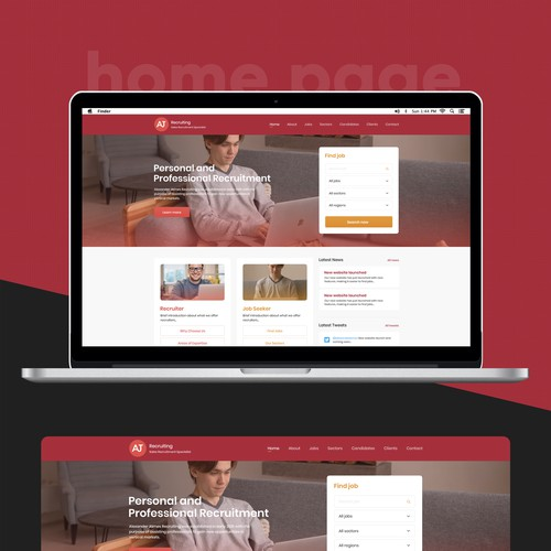 Home page re-design