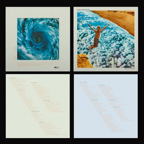 "Thee Operators ""Mucho Peor"" LP artwork"