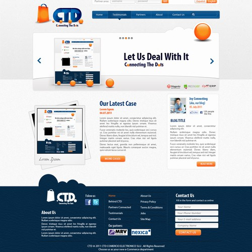 Great e-commerce agency needs its corporate webpage!