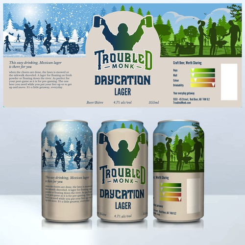 Beer design - Troubled monk Daycation Lager