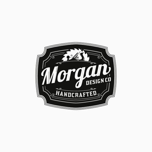 Powerful Vintage Logo for Wood & Metal Handcrafted Items Maker