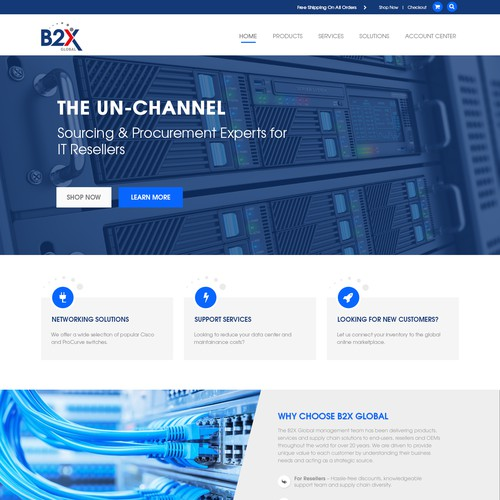 IT Company One-Page Website Design
