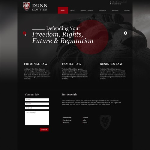 A modern law firm homepage desgin