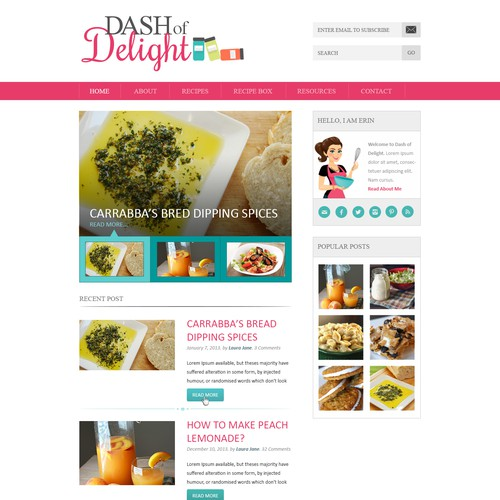 Create a winning Food Blog Design