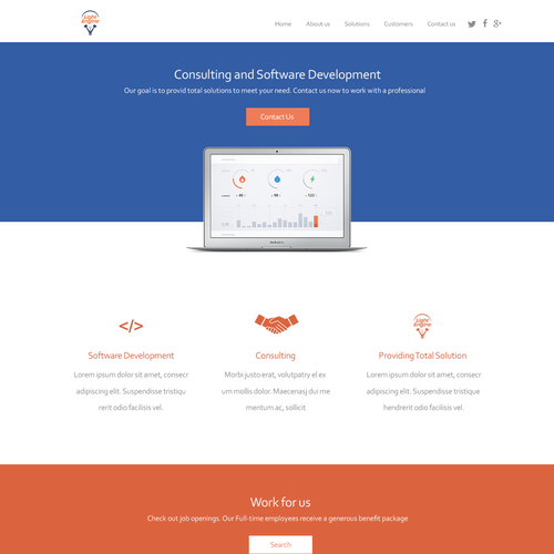 WP Landing Page Design for Light Engine