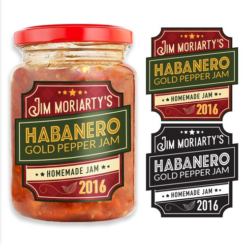 Label Design for Habanero Jam