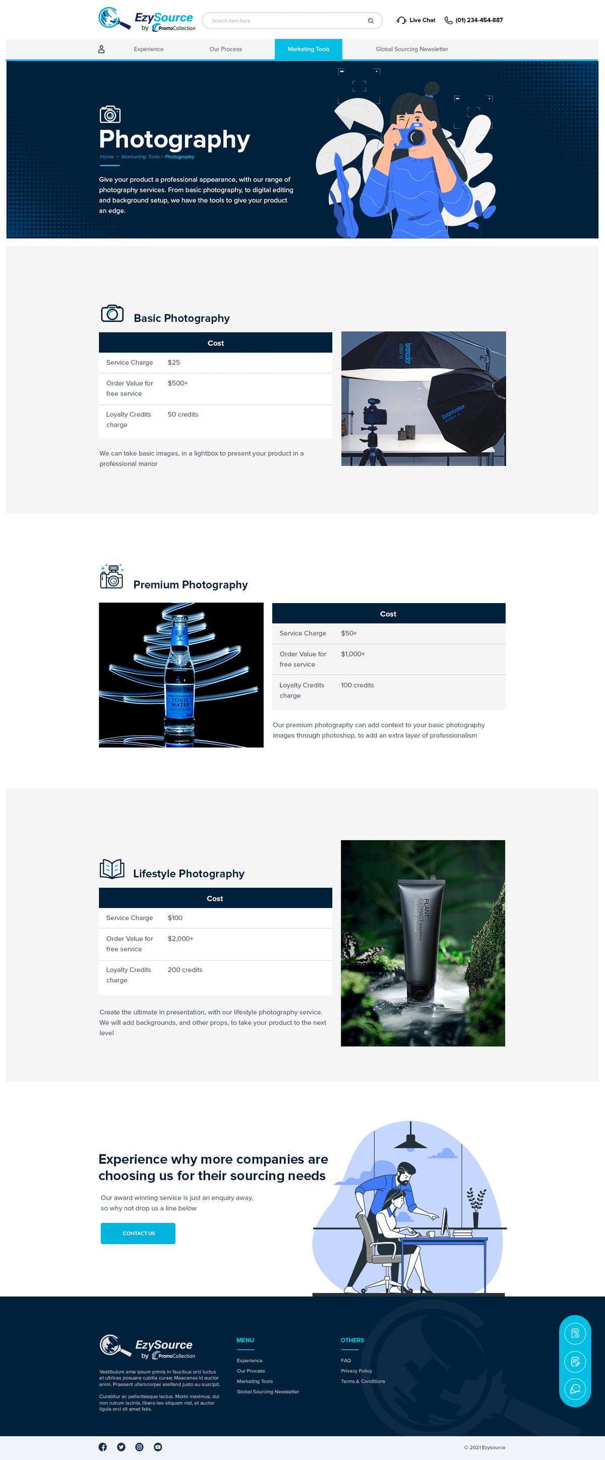 Sourcing website design