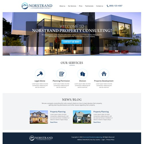 Wordpress site for new property consulting firm