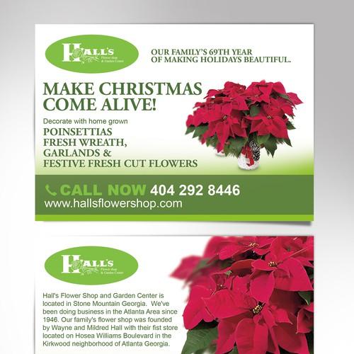 Create an eyecatching reusable template for a flower shop.