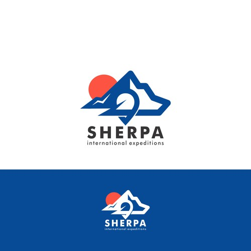 Logo design for sherpa international expeditions