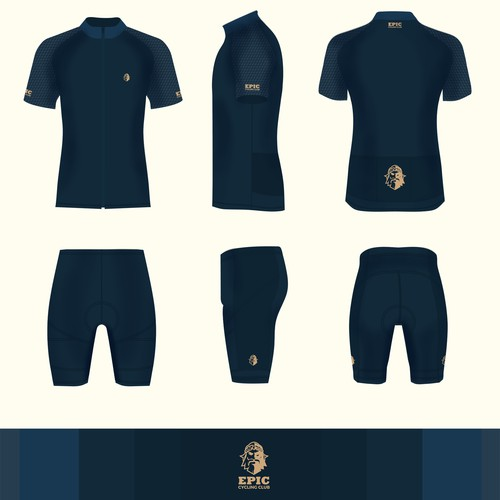 Luxury cycling jersey and cycling shorts
