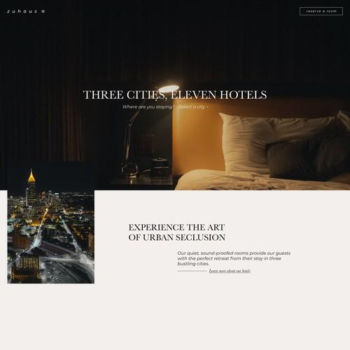 Zuhaus – A Hotel Template