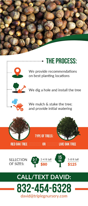 Doorhanger for Oak Tree Installation Promotion