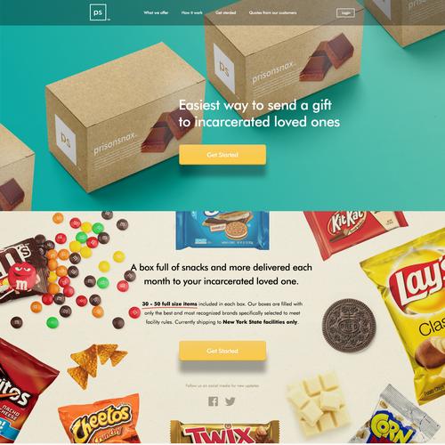 Prisionsnax website design