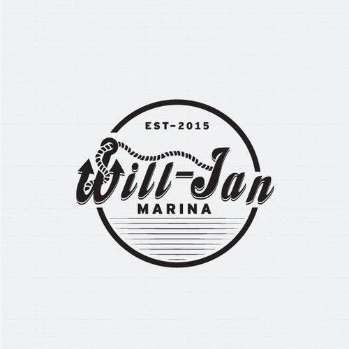 Logo design for Will-Jan Marina