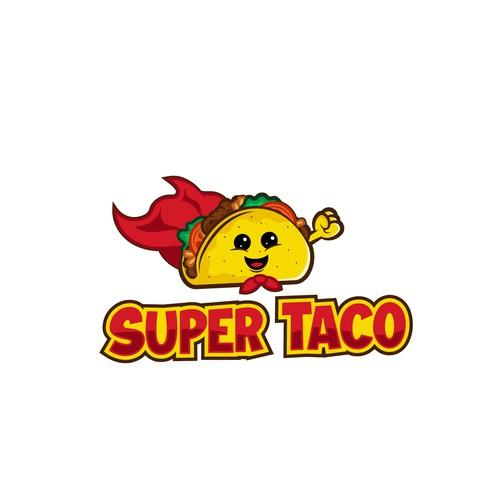 Super Taco mascot for small taqueria.