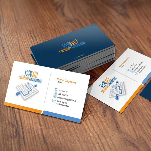 Business card design for Soluzioni Finanziarie