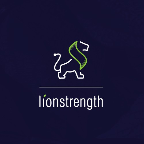 Logo concept for lionstrength.