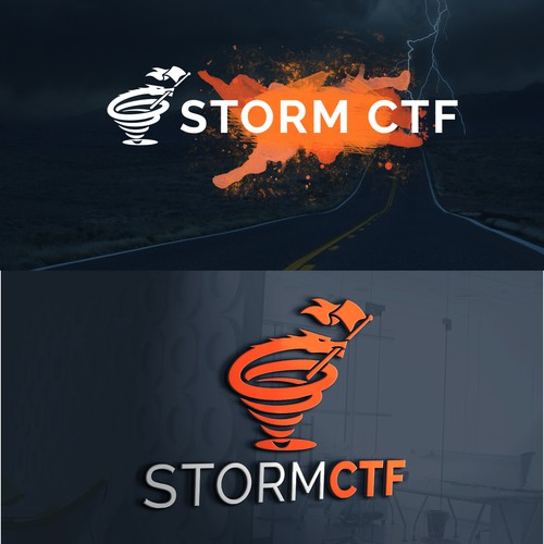 unique and clever new logo for Cybersecurity Competition Team | STORM CTF