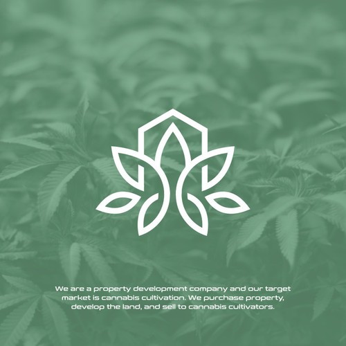 Modern Leaf design for property development company targeting indoor cultivators