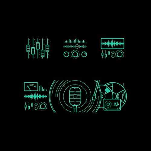 Recording studio icon