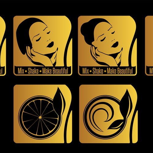 Cosmetic products icons