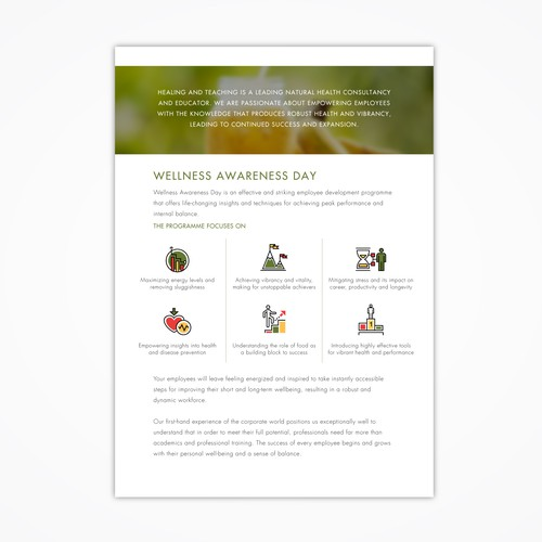 Clean, Unified & Refined brochure