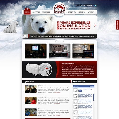 NEW WEBSITE for Harron's Insulation & Ceilings, Inc.