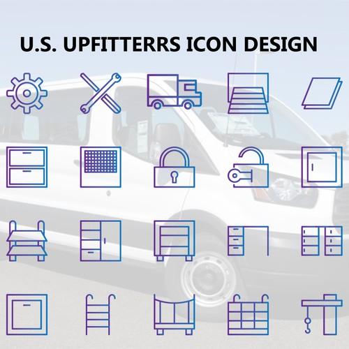 U.S Upfitters Icon Set concept