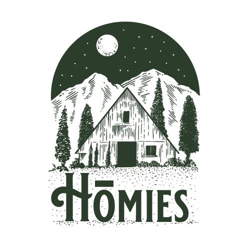 Vintage Fall Merch Line for Levi Kelly (youtuber/tiny home/a-frame)