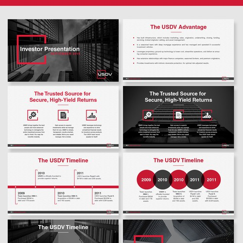 USDV PowerPoint Presentation Design