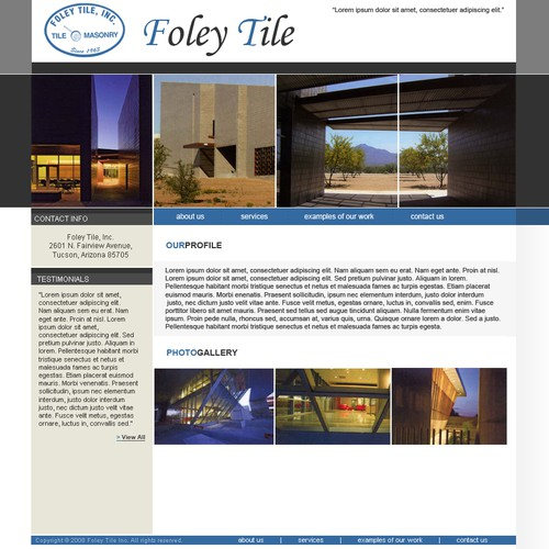 Building Contractor requires a Homepage design.