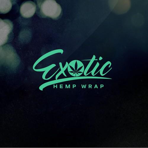 Design a original and flavorful logo for Exotic Hemp, hemp wraps