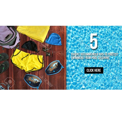 Facebook banner for swimming accesoris